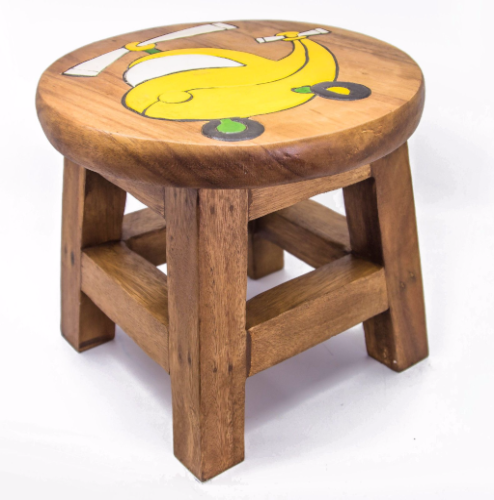Children S Wooden Step Or Stool Helicopter Design
